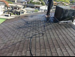 マンションシングル葺屋根塗装①福岡市