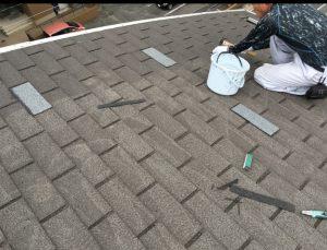 マンションシングル葺屋根の塗装②福岡市
