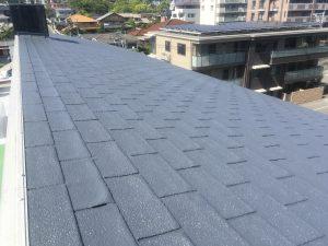 マンションシングル葺屋根の塗装③福岡市